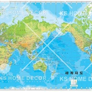world map wallpaper printing