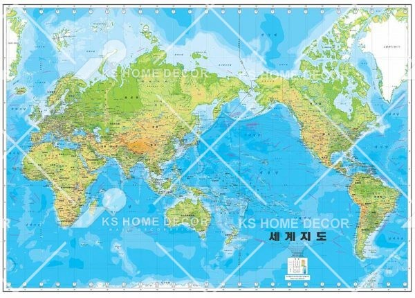 world map wallpaper printing